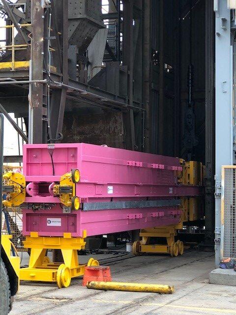 Orontide Skip Platform in position